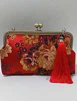 Women Silk  Peony Chinese Style / National Style Retro / Casual / Event/Party / Wedding Cheongsam Tassel Handmade Evening  Bag