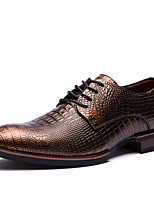 Men's Oxfords Spring / Summer / Fall / Winter Others Cowhide Office & Career / Party & Evening / Casual Flat Heel Lace-upBlack / Taupe /