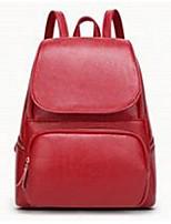 Women Cowhide Casual Backpack Pink / Brown / Red / Black