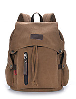 Casual Outdoor School Bag Unisex Canvas Blue Brown Black