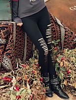 Damen Hose - Street Schick Jeans Polyester Dehnbar
