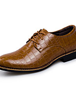 Men's Oxfords Spring Fall Others Leather Casual Lace-up Black Brown Others