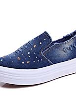 Feminino-Mocassins e Slip-Ons-Others-Plataforma-Preto / Azul-Lona / Jeans-Ar-Livre / Para Esporte / Casual