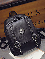 Women PU Casual Backpack Brown / Gray / Black