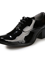 Men's Oxfords Spring / Fall Comfort PU Casual Chunky Heel Lace-up Black / Red / White Others