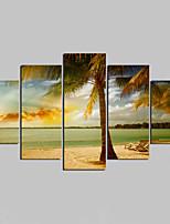 Unframed Холст печати Пейзаж Modern,5 панелей Холст Любая форма Печать Искусство Декор стены For Украшение дома