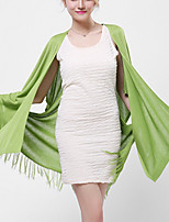 Women's Casual/Daily / Holiday Sexy / Street chic Long Cardigan,Solid White / Gray / Green Peter Pan Collar Long Sleeve CottonFall /