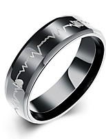 Ring Non Stone Halloween / Party / Daily / Casual Jewelry Stainless Steel Men Ring 1pc,7 / 8 / 9 / 10 Black