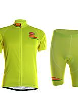 Спорт Велокофты и велошорты Муж. Короткие рукава ВелоспортБыстровысыхающий / Пригодно для носки / Высокая воздухопроницаемость (> 15 001