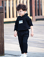 Boy's Casual/Daily Solid Hoodie & Sweatshirt / Clothing SetCotton Spring / Fall Black / Green