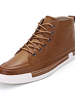 Men's Sneakers Spring Fall Comfort PU Casual Flat Heel Lace-up Others Black Blue Brown Khaki Others