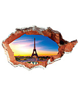 3D Wall Stickers Plane Wall Stickers Eiffel Tower Wall Stickers Printed Removable Wall Decal