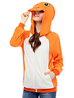 Inspiriert von Cosplay Cosplay Anime Cosplay Kostüme Cosplay Hoodies Patchwork Orange Lange Ärmel Top