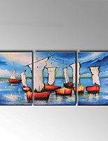 Handpainted Oil Paintings Sailing Seascape Office Decor with Stretched Frame Ready To Hang