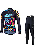 Fastcute® Cycling Jersey with Tights Men's Long Sleeve BikeBreathable / Quick Dry / Ultraviolet Resistant / Sweat-wicking / Compression /