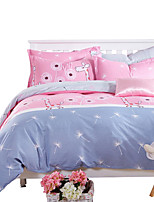 Mingjie  Wonderful Pink and Blue Deer Bedding Sets 4PCS for Twin Full Queen King Size from China Contian 1 Duvet Cover 1 Flatsheet 2 Pillowcases