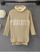 Girl's Casual/Daily Solid Sweater & CardiganAcrylic Winter / Fall Black / Beige