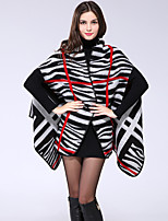 NITE OWL Women Polyester ScarfCasual RectangleBlackStriped-16032