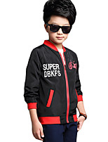 Boy's Casual/Daily Solid Jacket & CoatPolyester Spring / Fall Black / Green