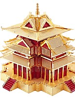 3D Puzzles For Gift  Building Blocks Model & Building Toy Tower / House Metal Above 14 Red / Gold Toys