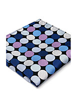 Mens Pocket Square Hanky Handkerchief Handkerchief Dots Blue Business