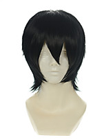 Death Note Zaizen Hikaru Kylin Zhang Black All-purpose Upturned Short Halloween Wigs Synthetic Wigs Costume Wigs