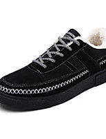 Men's Sneakers Spring Fall Comfort PU Casual Flat Heel Lace-up Black Blue Gray