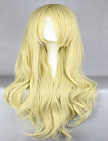 Anime promotion Touhou projet kirisame marisa 80cm longs ondulés blonds perruque cosplay