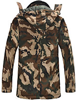 Hiking Softshell Jacket Unisex Thermal / Warm / Windproof / Wearable Fall/Autumn / Winter Cotton Black / Camouflage