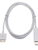 1.8 M IPAD To HDMI Cable Iphone4S To HDMI High-Definition TV Monitor Cable