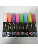 10 mm de espesor pluma de tinta fluorescente 8color