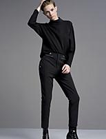 Damen Hose - Einfach Anzug Polyester / Elasthan Mikro-elastisch