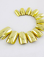 Golden Nail Strips Fashion Atmosphere Safe Easy To Operate 1Set