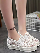 Women's Loafers & Slip-Ons Spring Summer Fall Platform Tulle Casual Flat Heel Others Black White Others