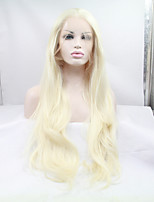 Sylvia Synthetic Lace front Wig Bleach Blonde Heat Resistant Long Straight Synthetic Wigs