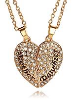 Ожерелье Ожерелья с подвесками Бижутерия Для вечеринок Повседневные В форме сердца Уникальный дизайн Сердце Сплав Женский Пара Девочки1