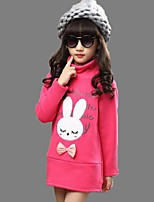 Girl's Casual/Daily Embroidered BlouseCotton Winter / Spring / Fall Pink / Red / Yellow