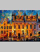 Hand-Painted Modern Abstract Knife Castle Landscape Oil Painting On Canvas Wall Art For Home Decoration Ready To Hang
