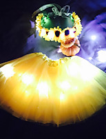Sunflower Princess Led Light Up Tutu & Headband Set For KidsGirlsAdultsHalloween CoustumeChristmas Gift
