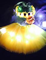 girassol princesa levou acender tutu&set cabeça para o presente coustumechristmas kidsgirlsadultshalloween