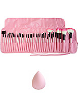 32pcs Makeup Brushes Set Synthetic Hair Professional / Eco-friendly / Portable Wood Face / Eye Others And Puff Pink