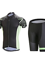 Cycling Jersey with Shorts Men's Short Sleeve BikeBreathable / Quick Dry / Anatomic Design / Front Zipper / Back Pocket / 3D Pad /