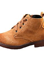 יוניסקס-מגפיים-PU-נוחות / מגפי שלג-שחור / קפה-קז'ואל-עקב שטוח