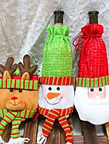 3stk vinflaske dækker sæt jul fest santa claus cap tøj til flaske xmas gave rødt nye år boligmontering