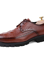 Men's Oxfords Spring Summer Fall Winter Comfort Leather Wedding Office & Career Party & Evening Flat Heel Black Brown Red Others