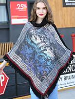 NITE OWL Women Polyester ScarfCasual TriangleBlackJacquard-16005