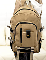Unisex Canvas Casual / Outdoor Backpack Beige / Green / Brown / Black