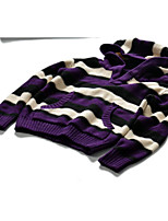 Boy's Casual/Daily Striped Sweater & CardiganCotton Winter / Spring / Fall Purple