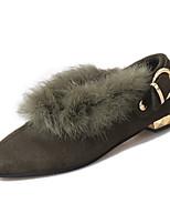 Черный / Зеленый-Женский-Для прогулок / На каждый день-Флис-На плоской подошве-Удобная обувь-На плокой подошве