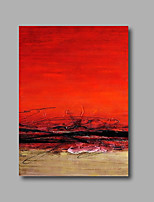 Stretched (Ready to hang) Hand-Painted Oil Painting 90cmx60cm Canvas Wall Art Modern Black Red